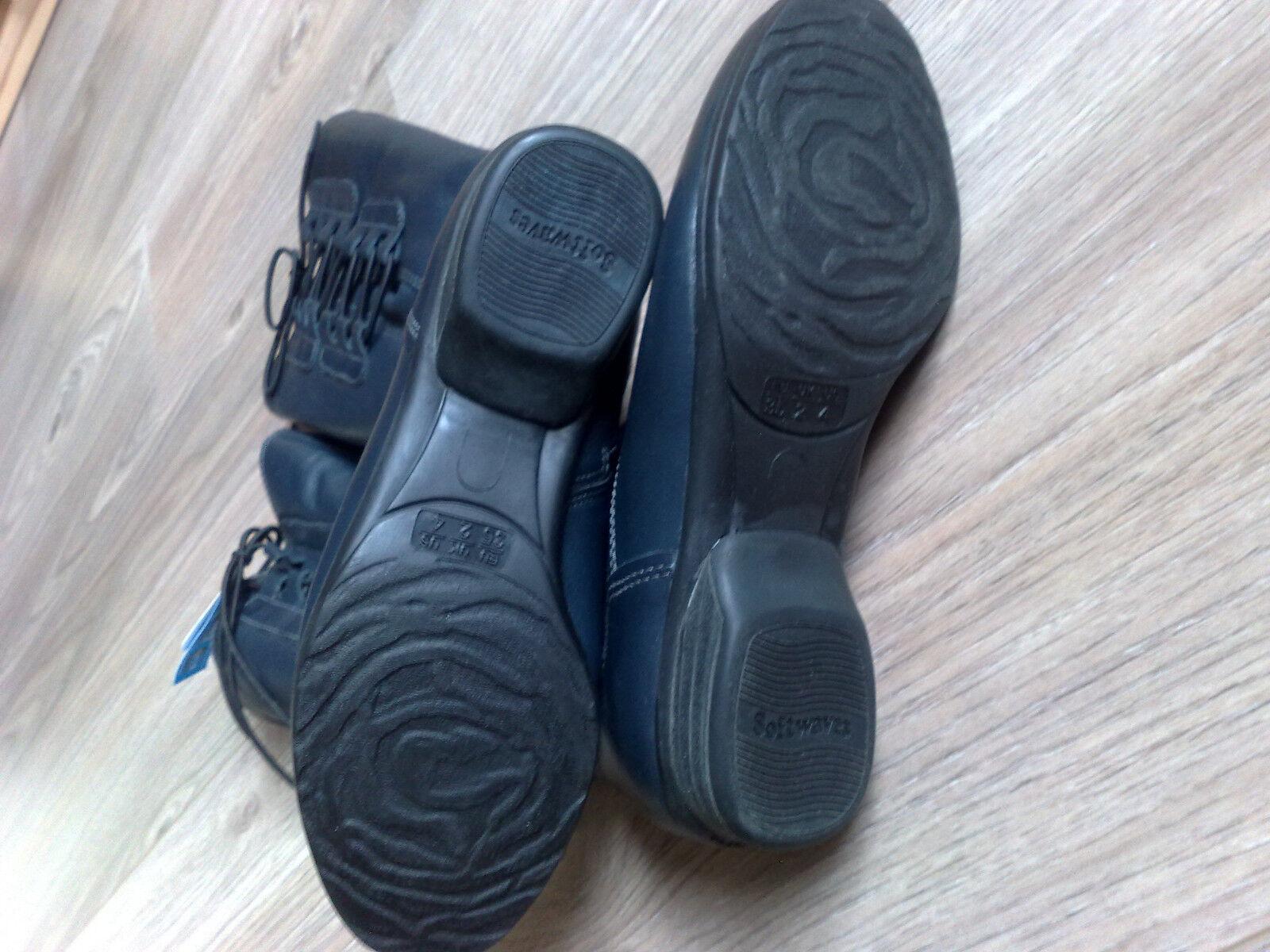 Damen der Winter-Stiefel von Softwaves in der Damen Farbe Marine Größe 35 Neu 735bc9