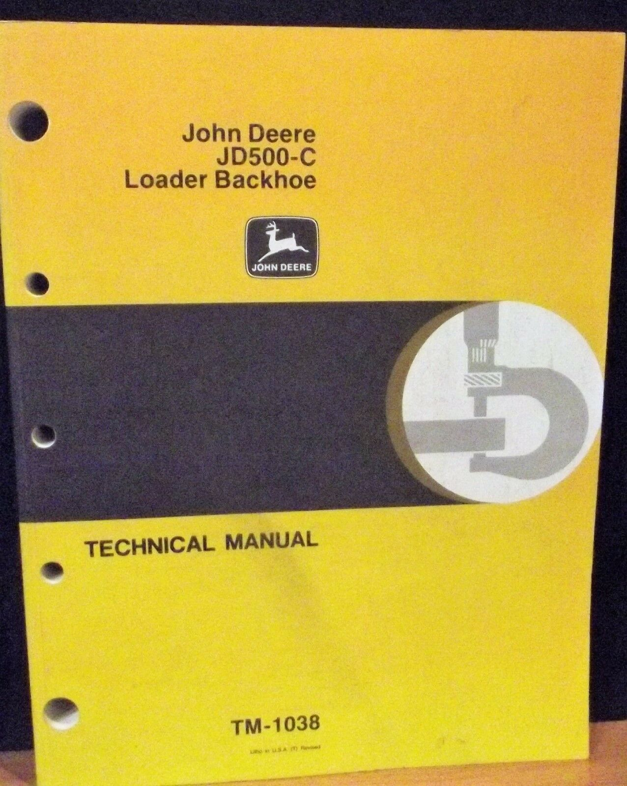 John Deere 500c Technical Service Repair Manual Tractor Backhoe Loader JD  TM1038 | eBay