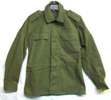 *CZECHOSLOVAKIA CZECH REPUBLIC ARMY 1991 NEW OD GREEN COTTON JACKET COAT / SMALL