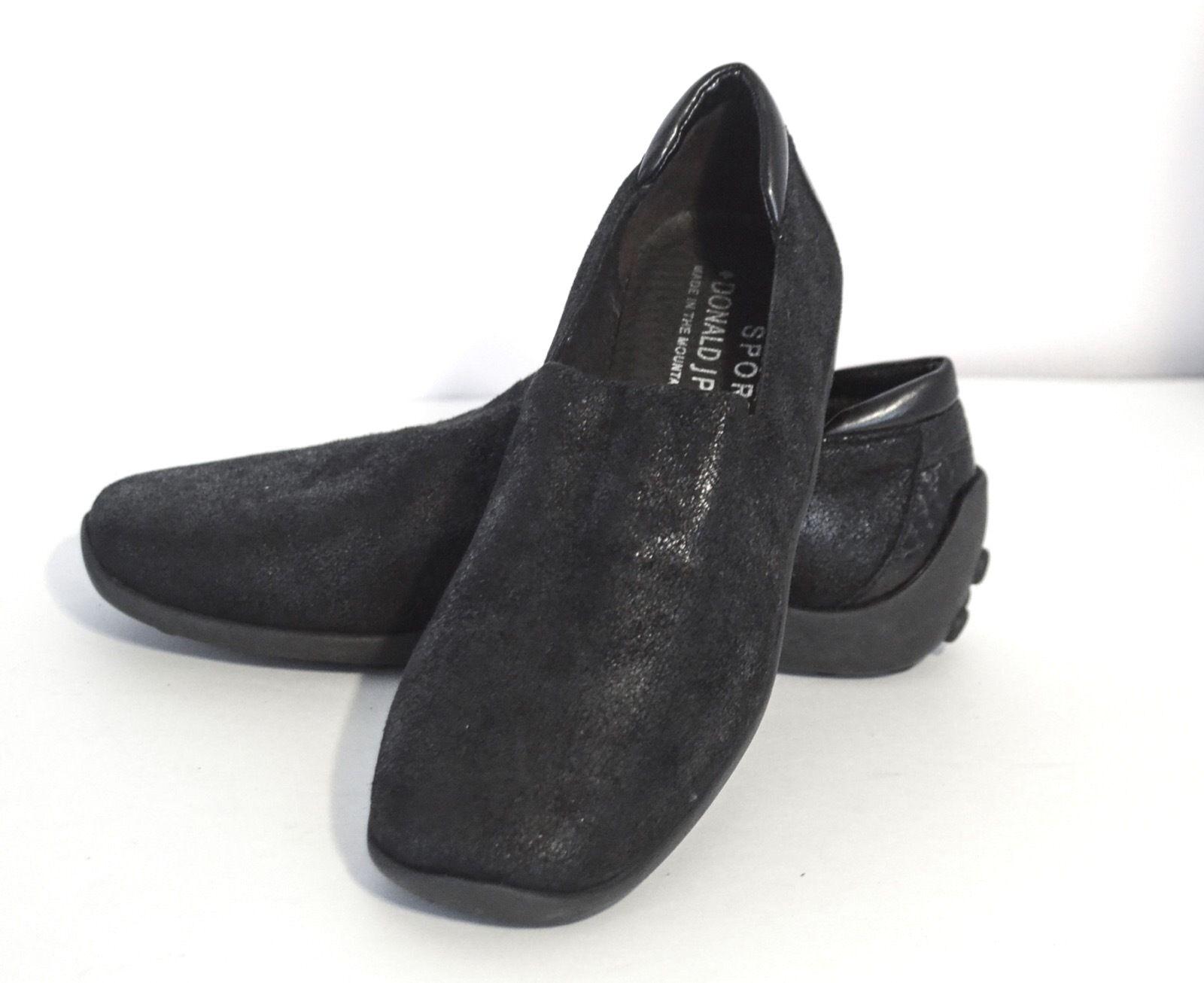 Donald J. Pliner Sport NAVA NAVA NAVA Women's Black Shimmering Leather Driving shoes 7M 067113
