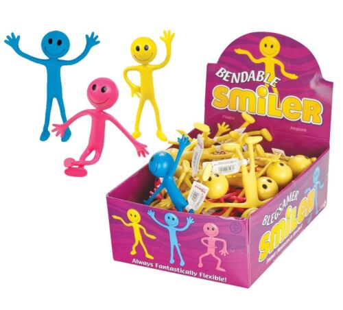 BENDABLE SMILER Birthday Party Loot Bag Toys Childrens Kids Stocking Fillers UK