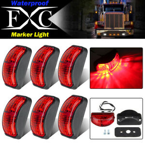 6-X-LED-Clearance-Lights-Side-Marker-Lamp-Red-Trailer-Truck-Caravan-Multi-Volt