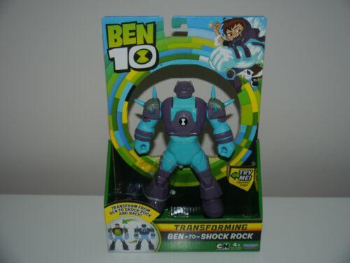 Ben 10 Transforming figures-Ben to Shock Rock ou Heatblast ou Diamondhead /_ NEUF