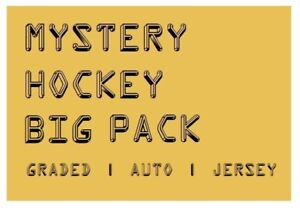 MYSTERY-HOCKEY-BIG-PACK-CARDS-Graded-Auto-039-d-or-Jersey-Hits-45-100-BV