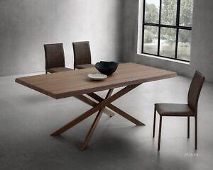 Tavole Da Pranzo Moderne.Dettagli Su Tavolo Da Pranzo Moderno Soggiorno Pr Renzo Fisso 200x100 Cm Piano Noce Riflessi