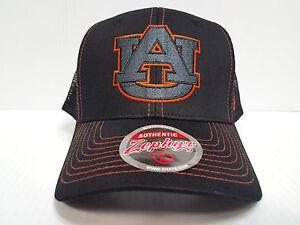 Auburn-Tigers-Cap-Zephyr-Snapback-Staple-Trucker-Blackout-Mesh-Hat