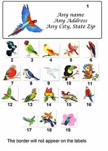 30 Personalized Return Address Labels Hummingbirds Buy 3 get 1 free hb7