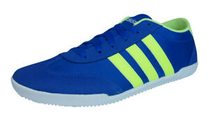 Details about adidas Neo V Trainer VS Mens Sneakers Casual Low-Top Shoes Blue Yellow-Stripes