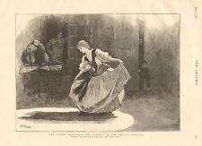 1890 ANTIQUE PRINT-THE GUARDS BURLESQUE AT THE CHELSEA BARRACKS