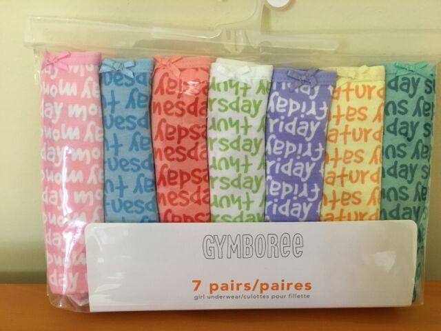 NWT Gymboree Girls Underwear 7-Pack Panties Days of the Week Underwear