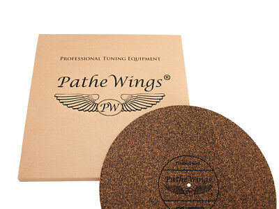 PatheWings Cork Turntable Record Mat Vinyl LP Audiophile MADE IN GERMANY 4mm BL