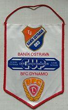 GAGLIARDETTO BFC Dinamo Berlino Baník Ostrava DDR SUPERIORE LEGA Vlajka ČSSR Česko pennant