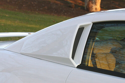 99-04 Ford Mustang V6 GT Xenon Urethane 1//4 Quarter Window Scoops Set Pair 12710