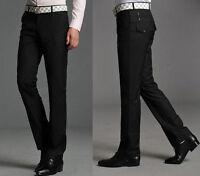 9823 New Fashion Mens Dress Slim Fit Pants Trousers Straight Black 7 US Size