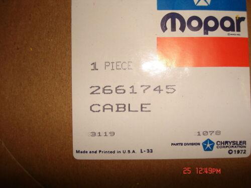mopar speedo cable 7 ft dodge truck p//n 2661745 d600