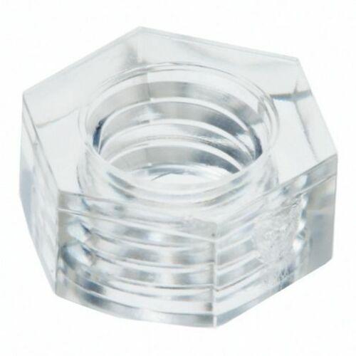 Kunststoff Mutter Sechskantmutter M3 Polycarbonat transparent 10 Stück