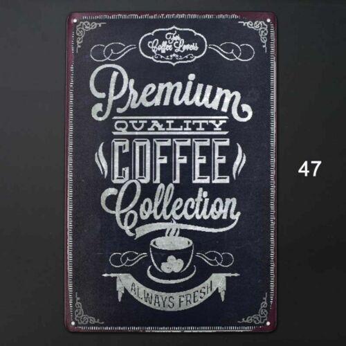 Vintage Metal Tin Sign Bar Coffee Home Retro Cafe Wall Decor Iron Art Poster