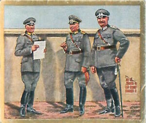 N-04-World-War-German-Soldiers-officers-Army-Reichswehr-Germany-WWI-30s-CHROMO
