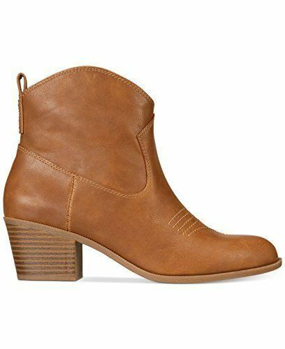 STYLE & CO MANDYY Women Booties (5 M, MED BROWN)