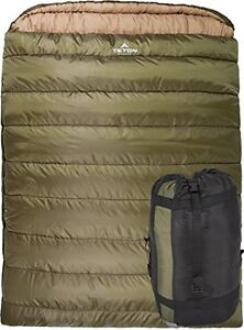 Details About Teton Sports Mammoth Queen Size Sleeping Bag
