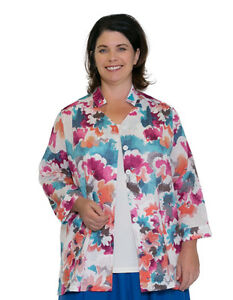 Plus-Size-Clothing-18-20-Barfly-Mandarin-Top-PRINTED