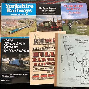 Joblot-6-Railway-Books-YORKSHIRE-steam-trains-Railwayana-stations-Hull-Barnsley