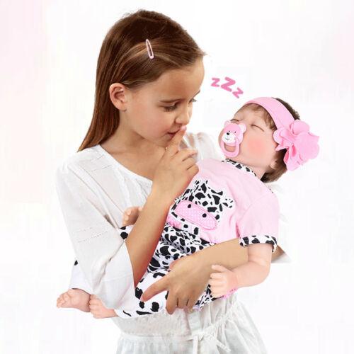 "55cm Newborn Full Body Reborn Baby Dolls Handmade Girl Doll 22/"""