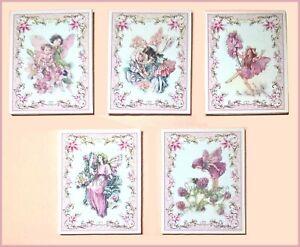 Prix Pas Cher Lot 5 Fleur Fée Photos/wall Art Pour Maison De Poupées/room Box Nursery-afficher Le Titre D'origine