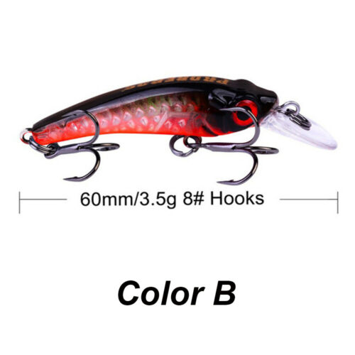 Jerkbait 6cm 3.5g Laser Hard Mino Fish Crank Bait Salt Fishing Tackle