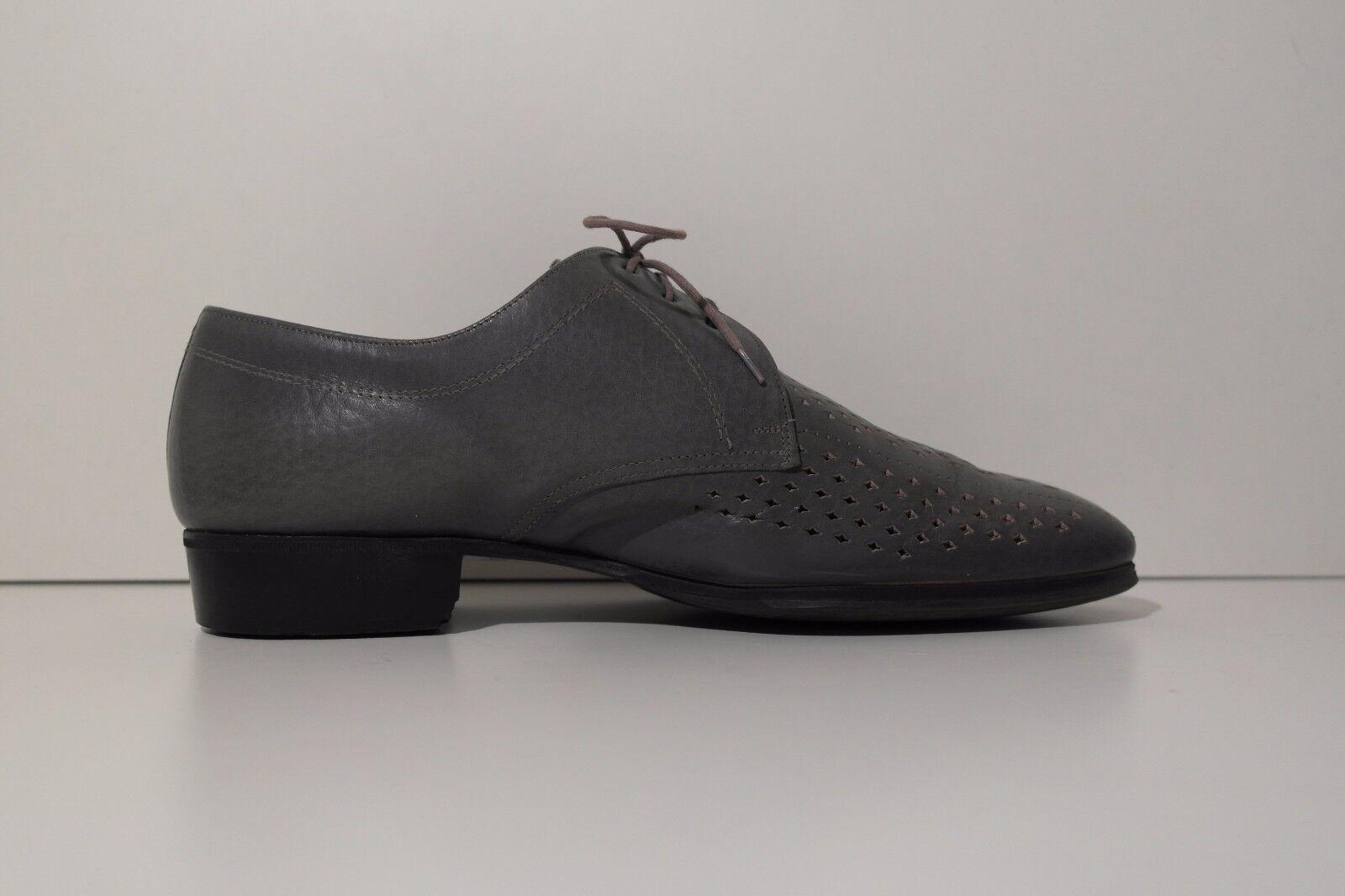 TRUE VINTAGE 70er Herren Schnürschuhe Schnürschuhe Schnürschuhe UK 7 Schuhe grau Halbschuhe Swinging 70s  65673b