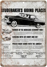 """Studebaker Electric Car Vintage Ad 10/"""" x 7/"""" Reproduction Metal Sign A447"""