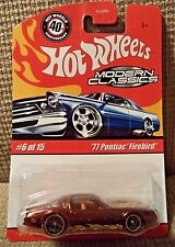 HOT WHEELS MODERN CLASSICS '77 PONTIAC FIREBIRD 6/15 *NEW*