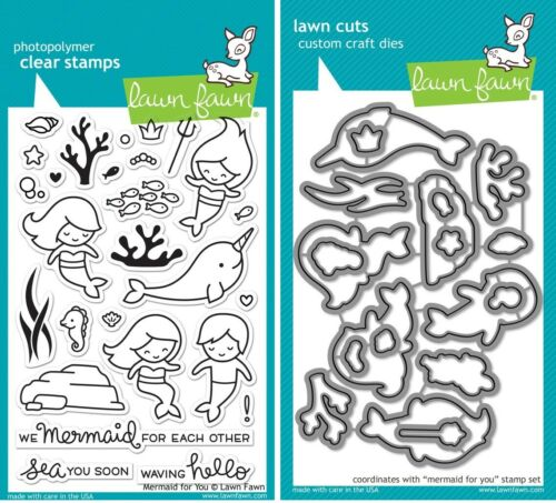Lawn Fawn MERMAID FOR YOU Stamps /& Lawn Cuts Die Set LF1167 LF1168