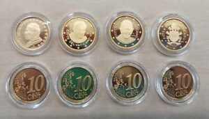 Vatican 10 Cent Pp / Proof (Choisissez Entre Les Millésimes : 2002 - 2017)