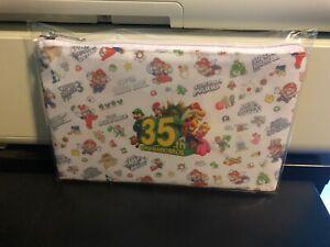 Super Mario Bros 35th Anniversary Zipper Pouch My Nintendo Rewards Ships Free