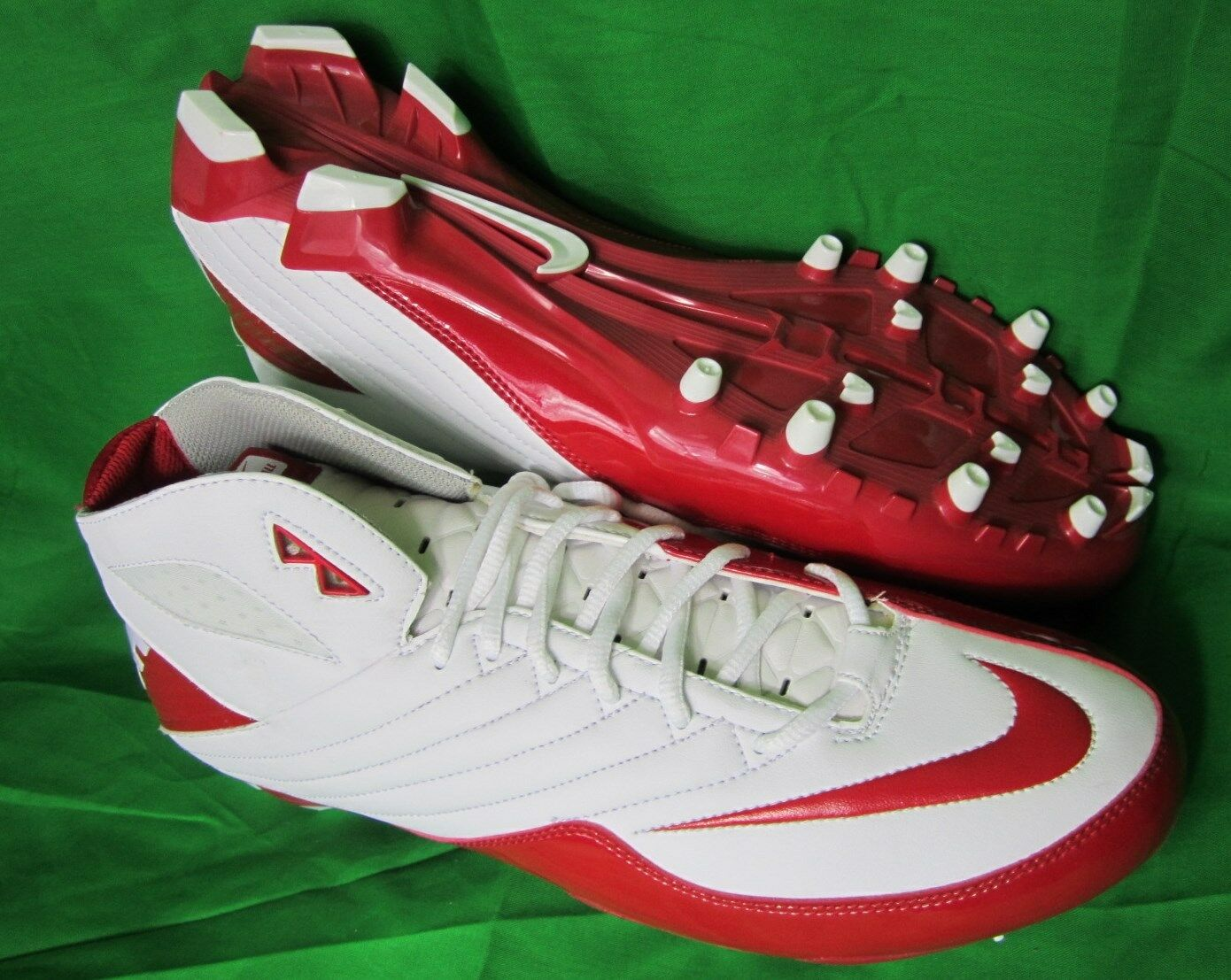 Shoes, NIKE US14 NEW 3/4 Cleats SUPER SPEED 396254 White Red UK13 EUR48,5 CM32 Seasonal price cuts, discount benefits