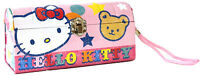Hello Kitty Metal Tin Clutch Purse Bear Kids Girls Tote Bag Carrier Cute