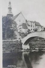 17082 Foto AK Insterburg Angerapp mit Lutherkirche Brücke 1939