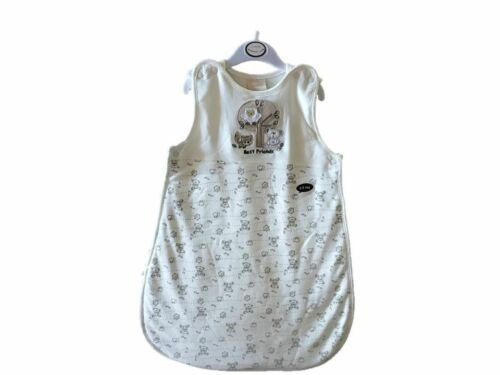 Best Friends Design BABY BONITO® Cream Sleep Bag 2.5 Tog Side Zip /& Poppers