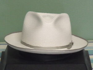 Image is loading STETSON-STRATOLINER-FLORENTINE-MILAN-STRAW-FEDORA-HAT 328c2d1ff0a