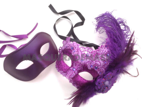 Lace Masquerade Ball Mask Couple Prom Wedding Christmas Deco New Year Eve Party