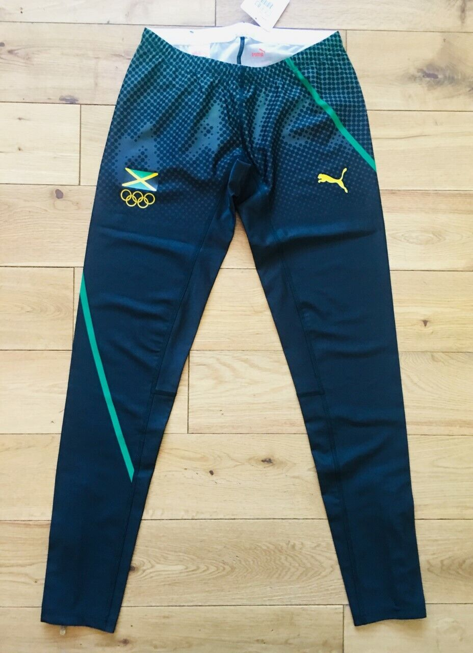 Puma Jamaica Women's Pro Elite Pro Issue 2012 Olympics Long Tights  US L
