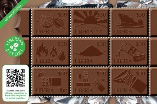 Liberia- 2011 Chocolate Delicacies Sheet of 9