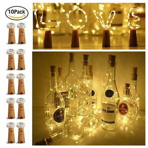 10-20-LED-Weinflasche-Kork-String-Light-Nacht-Lichterkette-Party-Flaschenlicht