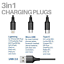 3in1-Multi-Type-C-Cable-Rapide-Charge-USB-Micro-Cordon-Donnees-Ligne-1-2M miniature 2