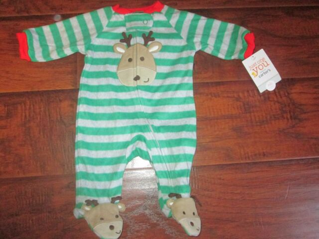 e51e88288850 Carter s Just One You Green Fleece Front Zip Playsuit Size 3 Months ...