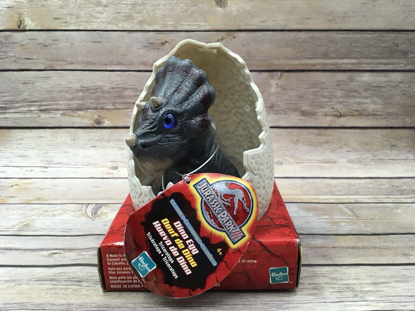 New Hasbro 2000 Jurassic Park III Triceratops Electronic Dino Egg  29385