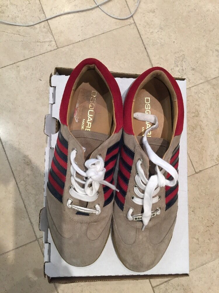 Dsquared Men's Suede Brown  Red Transits UK 11