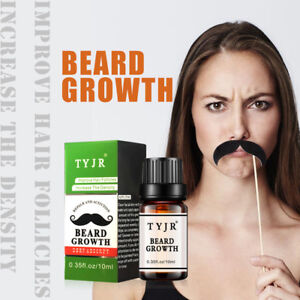 Details about Beard Growth Essential Oil Moustache Styling Moisturizing  Gentlemen Care 10ML