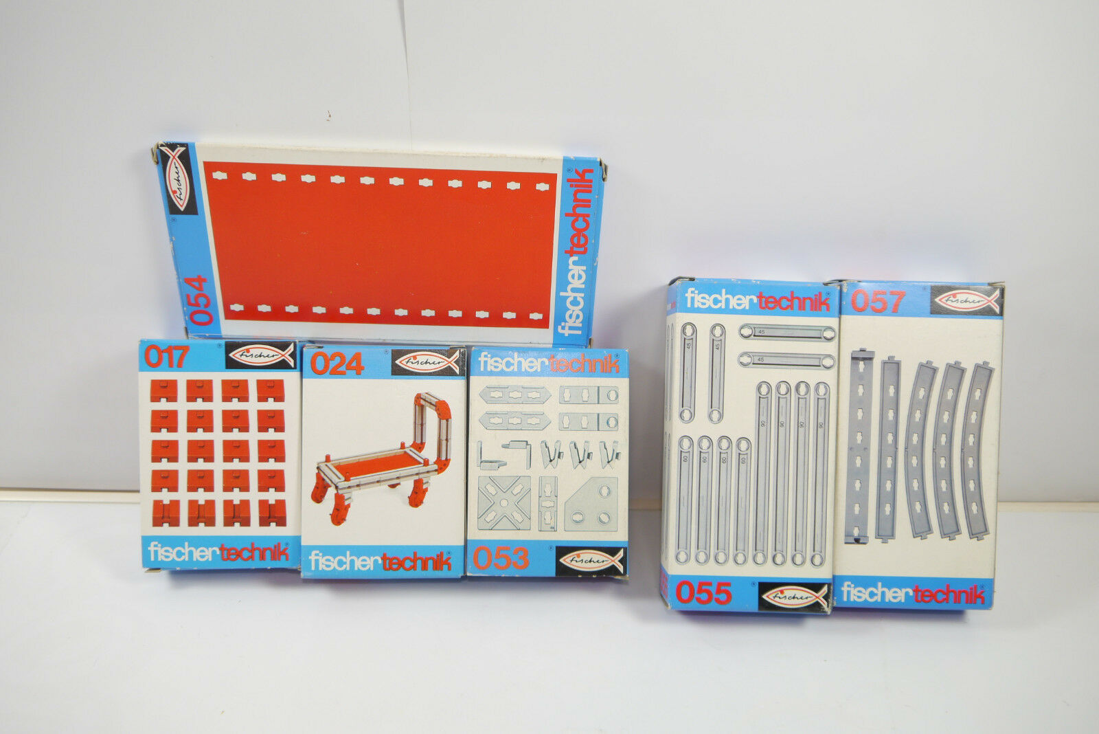 Fischertechnik 6 Various 017+024 +053+054 +055 +057 Supplement Box New (MF12) J